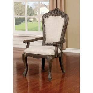 Ochlocknee Upholstered Dining Arm Chair (Set of 2) Astoria Grand