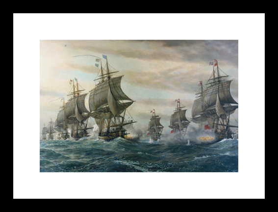 Buyenlarge Battle Of Virginia Capes By V Zvegframed Photographic Print Wayfair