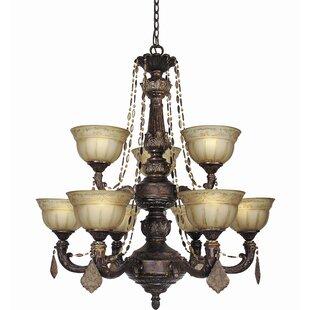 Woodbridge Lighting Lucerne 9-Light Shaded Chandelier
