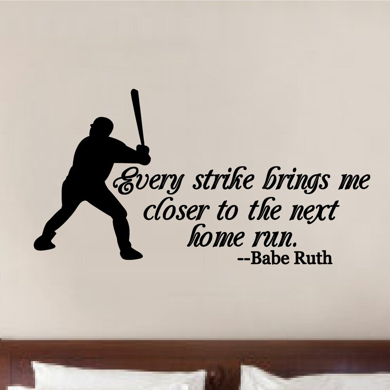 Baseball Babe Ruth Quote Sports Decor Vinyl Wall Decal