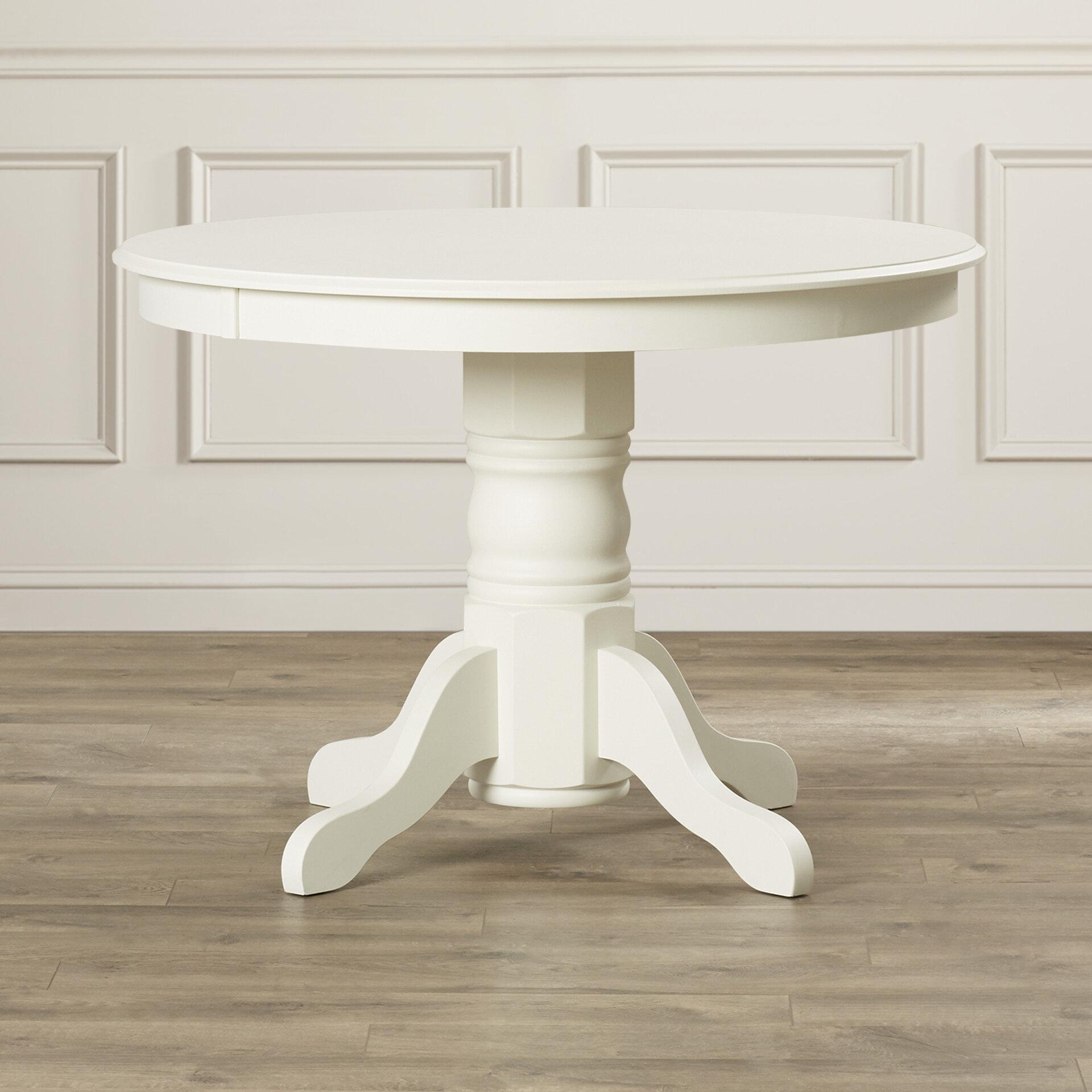 Standridge 9'' Solid Wood Pedestal Dining Table