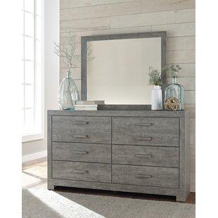 Rosen 6 Drawer Double Dresser with Mirror by Beachcrest Home