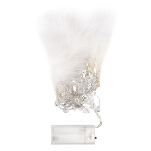 Tayla Fairy Feather And Beads 4.2 Ft. 10-Light Novelty String Light by Turn on the Brights Sale