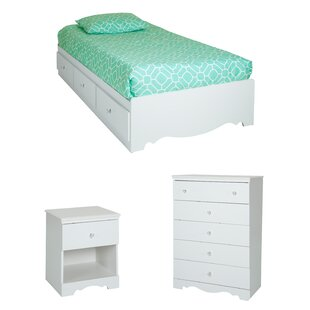 Best Reviews Crystal Platform Configurable Bedroom Set BySouth Shore