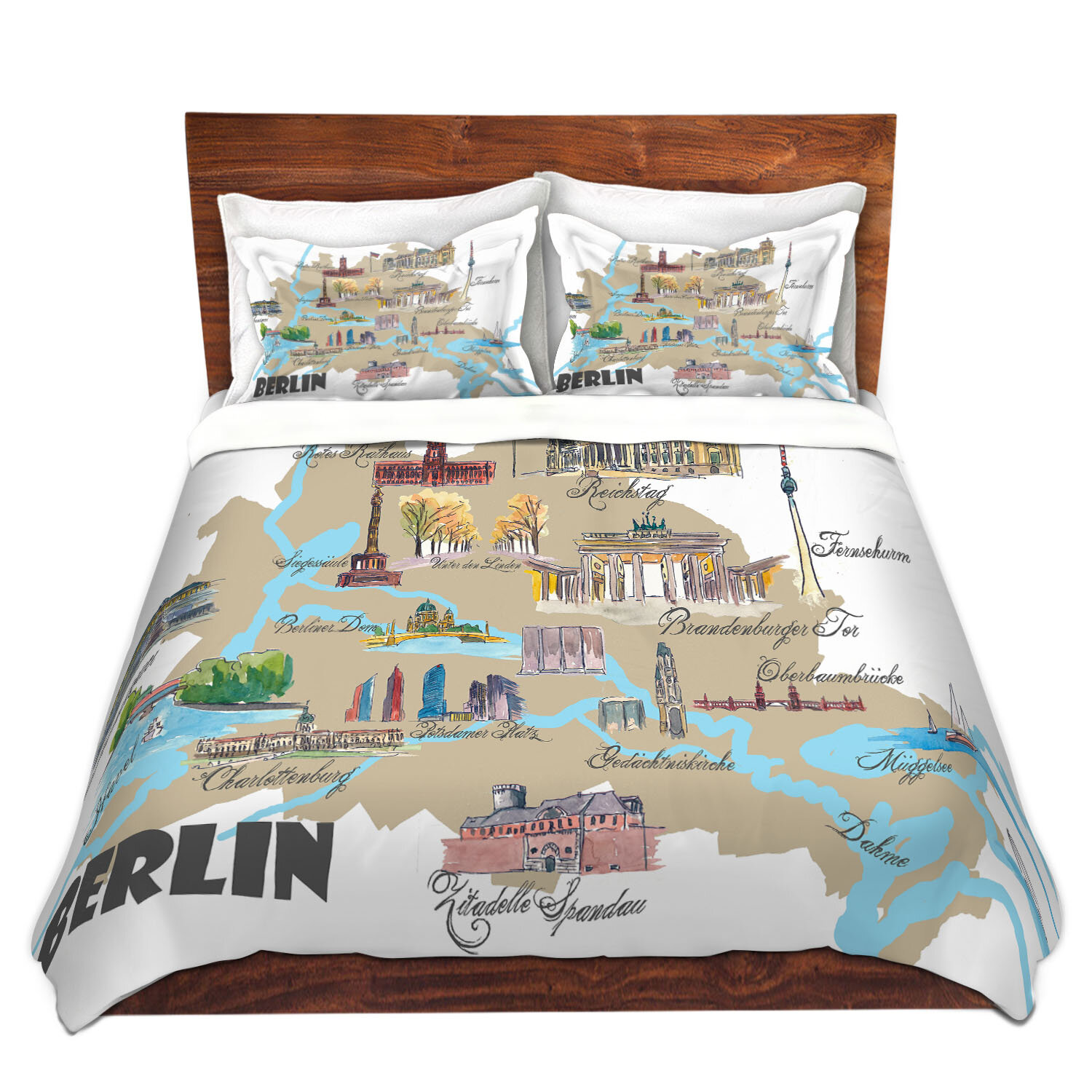 East Urban Home Tourist Berlin Duvet Cover Set Wayfair