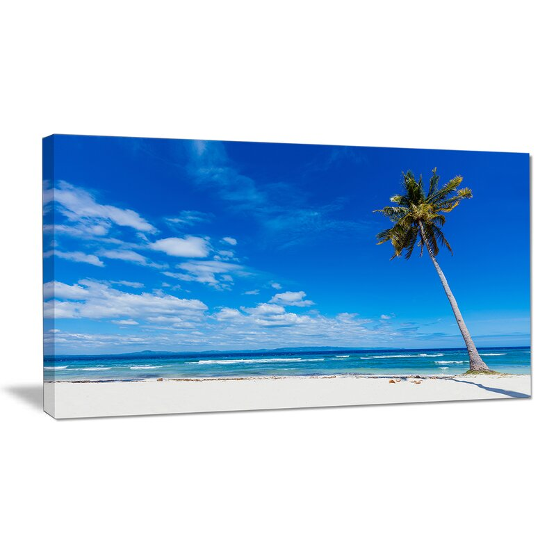 Designart Calm Summer Vacation Beach Philippines Photographic Print On Wrapped Canvas Wayfair