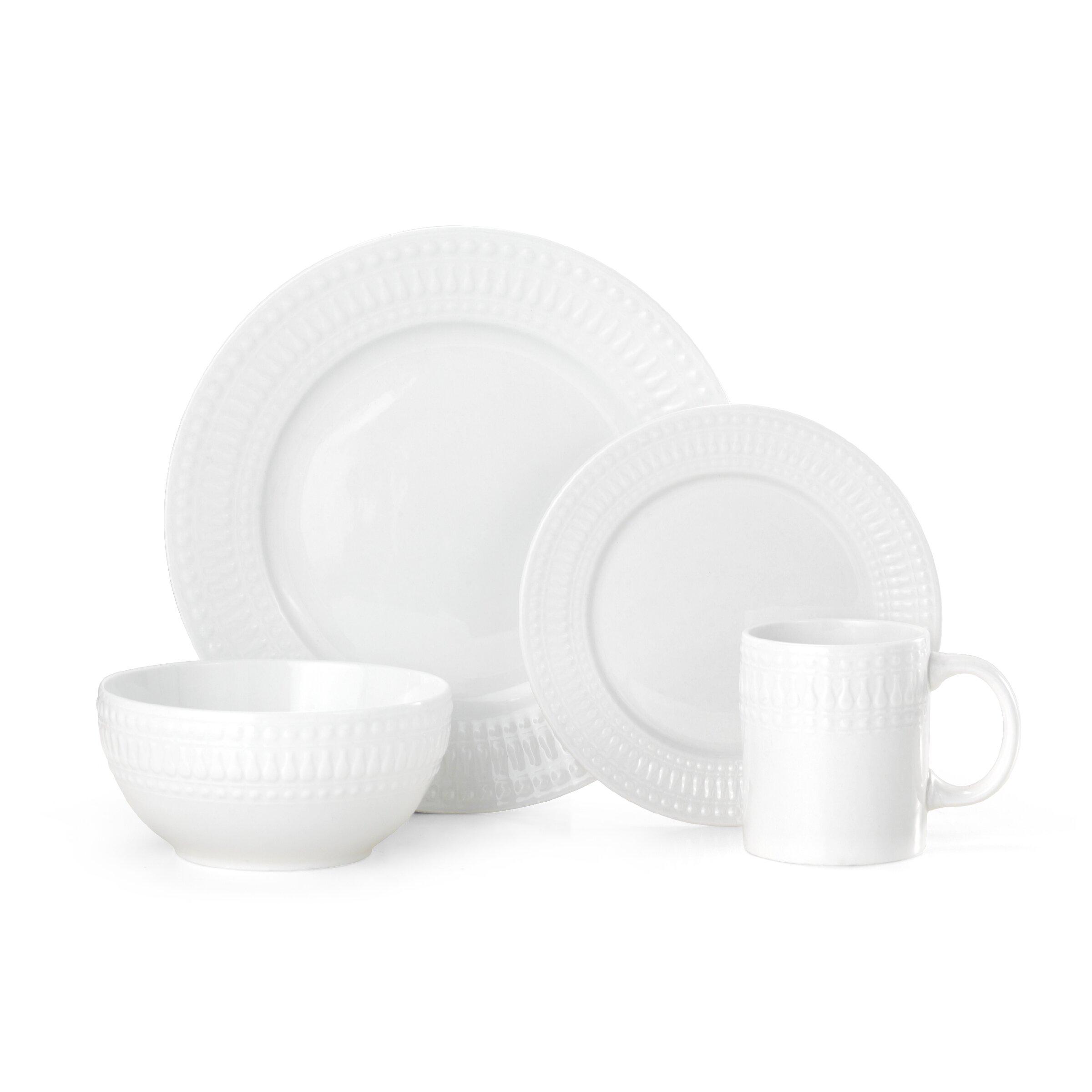 Cassandra 16 Piece Dinnerware Set Service for 4  sc 1 st  Wayfair & Pfaltzgraff | Wayfair