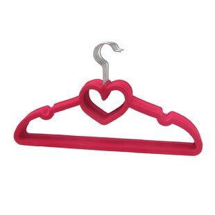 Heart Shaped Sturdy Slim Clothes Hanger (Set of 10) By BriaUSA
