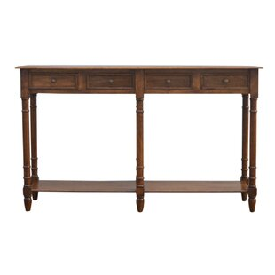 Colesberry Hallway 4 Drawer Console Table with Turned Feet
