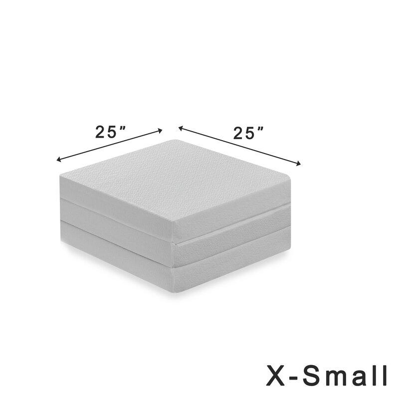Alwyn Home Gaertner 4 Tri Fold Memory Foam Mattress Topper Wayfair