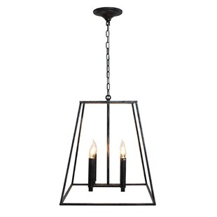 Gawon 4-Light Square/Rectangle Chandelier by Gracie Oaks