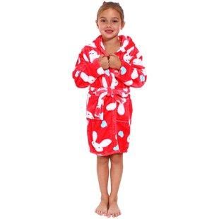 Geurie Children s Bunny Print Terry Cloth Bathrobe c1aa07d4b