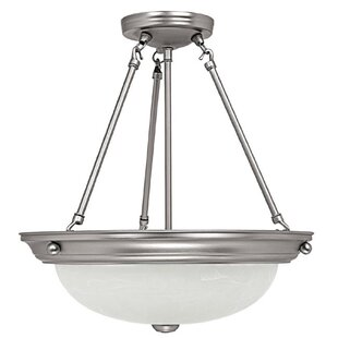Capital Lighting Columbus 3-Light Bowl Pendant