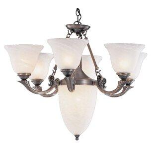 Classic Lighting St. Tropez 9-Light Shaded Chandelier