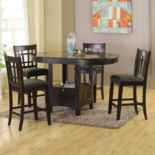Catania 5 Piece Dining Set by Hazelwood Home