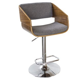 Shopping for Bent Wood Fabric Adjustable Height Swivel Bar Stool By AmeriHome