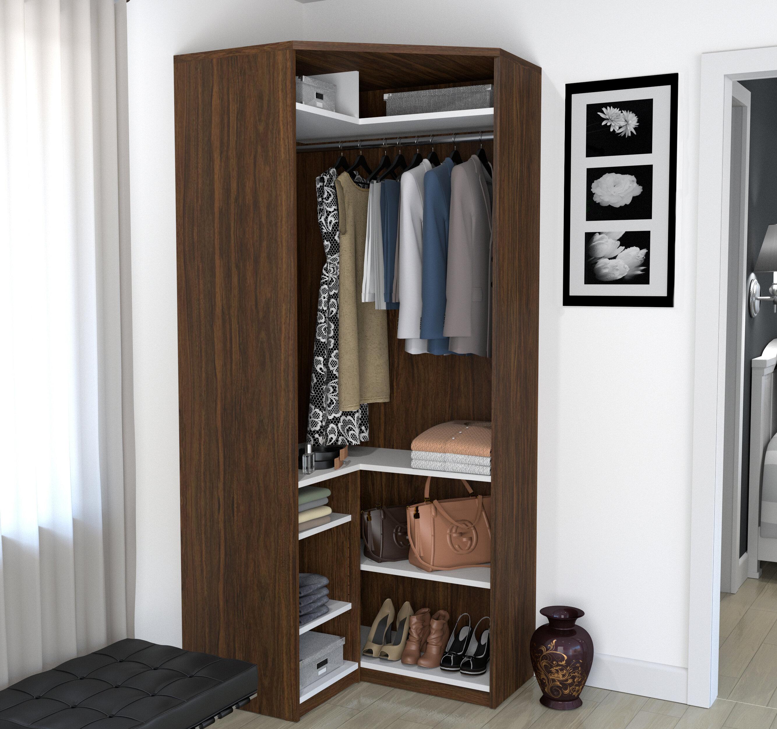 Rebrilliant Wilbur 36.9 W Closet System REBR1530 Finish: Oak Barrel