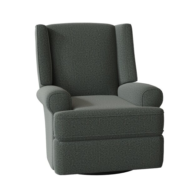 Enjoyable Wingback Swivel Recliner Wayfair Theyellowbook Wood Chair Design Ideas Theyellowbookinfo