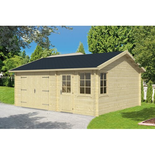 6 m x 5 m Garage Northstate Garten Living Dach: Sechseckig Schwarz| Fundament: Ohne Fundament | Baumarkt > Garagen und Carports > Garagen | Garten Living
