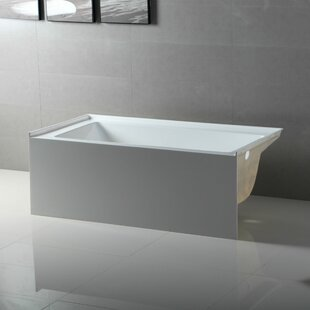 Apron Acrylic 54 x 30 Alcove Soaking Bathtub By Fine Fixtures