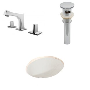 Best Price Ceramic Oval Undermount Bathroom Sink with Faucet and Overflow ByAmerican Imaginations