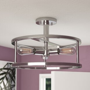 Sargeant 3-Light Semi Flush Mount by Brayden Studio