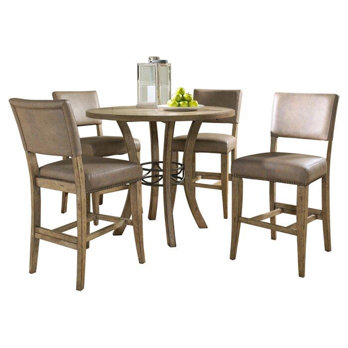 Astounding Rude 5 Piece Round Counter Height Dining Set Gmtry Best Dining Table And Chair Ideas Images Gmtryco