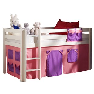Pino European Single Mid Sleeper Bed with Curtain by Vipack