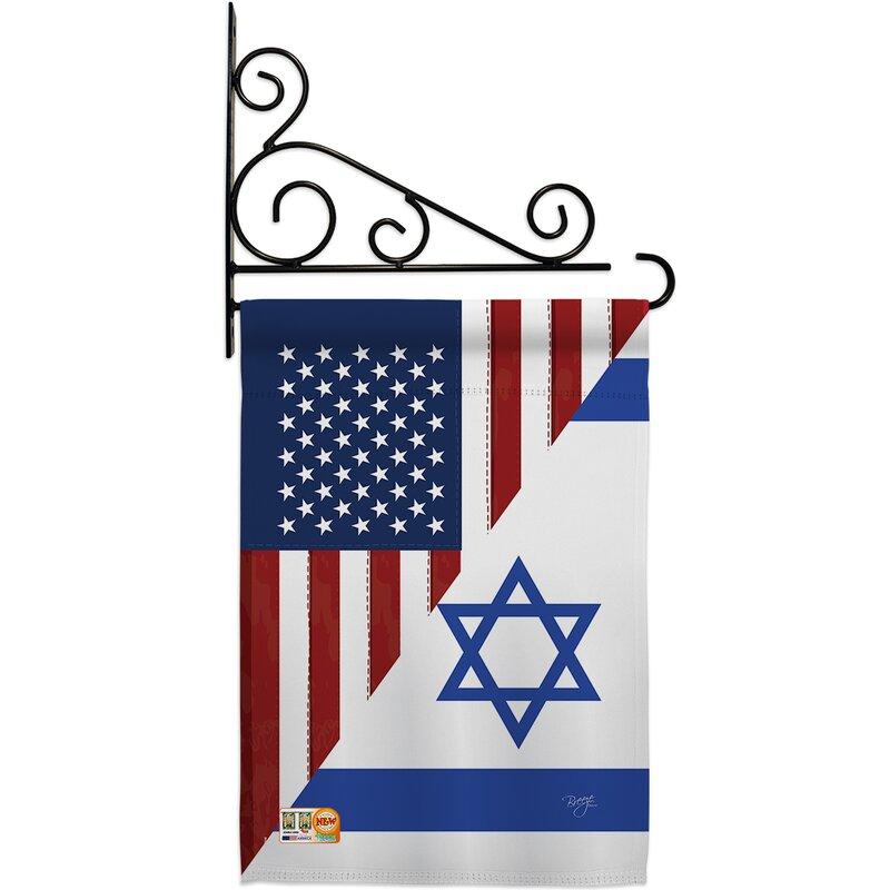 Breeze Decor Us Israel Friendship Gf 2 Sided Polyester 19 X 13 In Flag Set Wayfair