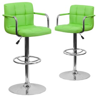 Milam Adjustable Height Swivel Bar Stool (Set of 2)