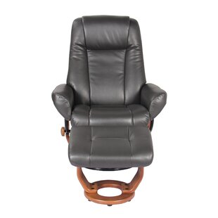 Winston Porter Rodrigo Manual Glider Swivel Recliner with Ottoman