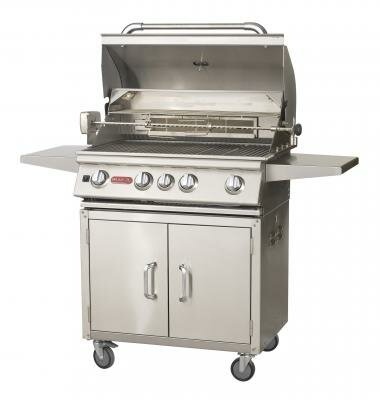 Angus 4-Burner Propane Gas Grill with Cabinet Bull Outdoor