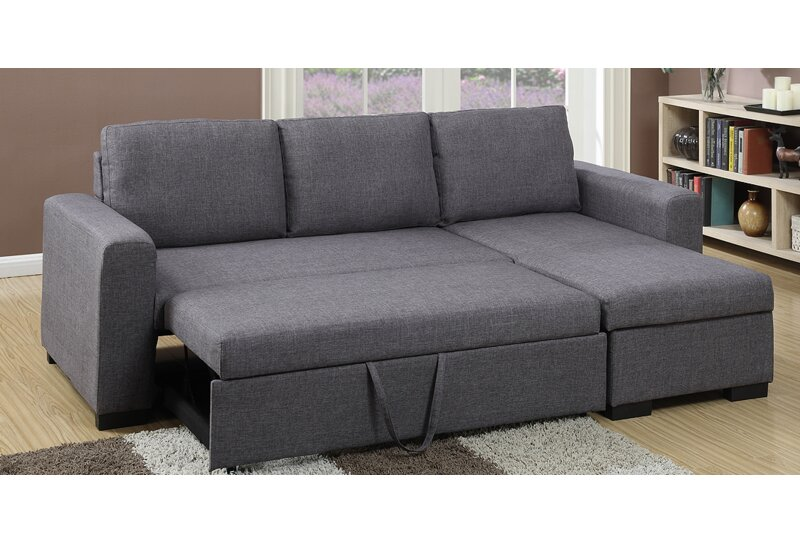 storage compact sleeper mulberry sectional with