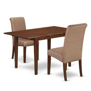 Carlie Kitchen Table 3 Piece Extendable Solid Wood Breakfast Nook Dining Set Winston Porter