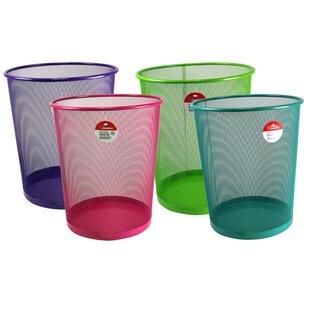Home Basics Steel 1.58 Gallon Waste Basket