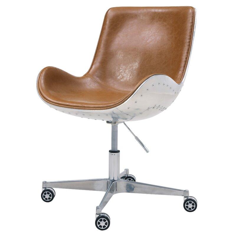 17 Stories  Longe Task Chair Color: Distressed Caramel