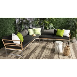Astin Teak Patio Sectional with Cushions