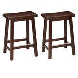 Amartya Solid Wood 24'' Counter Stool (Set of 2)
