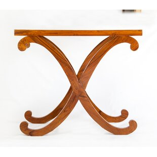 Contemporary Cross Console Table By The Silver Teak