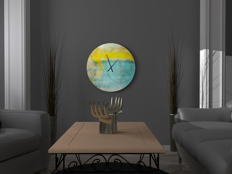 East Urban Home Oversized Kooky Rich Abstract Metal Wall Clock Wayfair