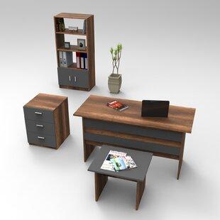 Stanstead 4-Piece Standard Desk Office Suite By Ebern Designs