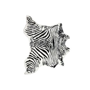 Seaford Zebra Black/White Area Rug ByWorld Menagerie