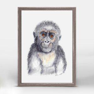 Gorilla Portrait by Brett Blumenthal Mini Canvas Framed Art