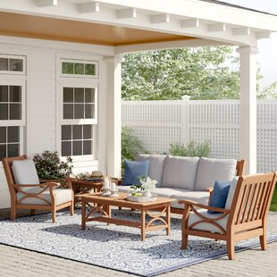 Brunswick 5 Piece Teak Sofa Seating Group with Cushions