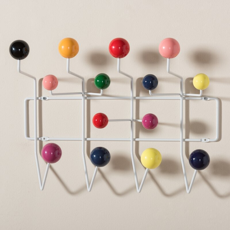 Ebern Designs Bilokur Mid Century Modern Wall Mounted Coat Rack