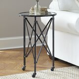 Avina Tray Top Wheel End Table by Williston Forge