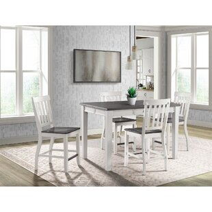 Jamison 5 Piece Counter Height Extendable Dining Set