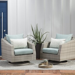 Castelli Motion Swivel Patio Chair with Sunbrella Cushions (Set of 2)