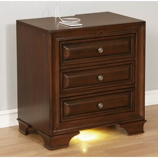 Darby Home Co Ellington Circle Farmhouse 3 Drawer Nightstand