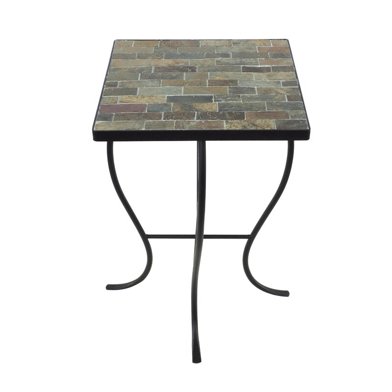 Homestyle Collection Stone Top End Table